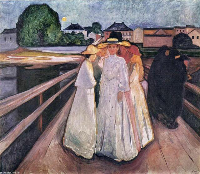 Edvard-Munch-The-Ladies-on-the-Bridge